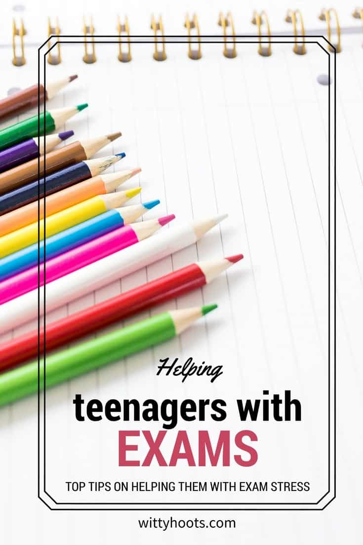 Helping Teenagers with Exams, some top tips on hoe to cope with the stress of revision and exams