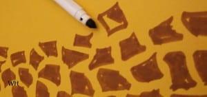 Felt tip pen giraffe pattern