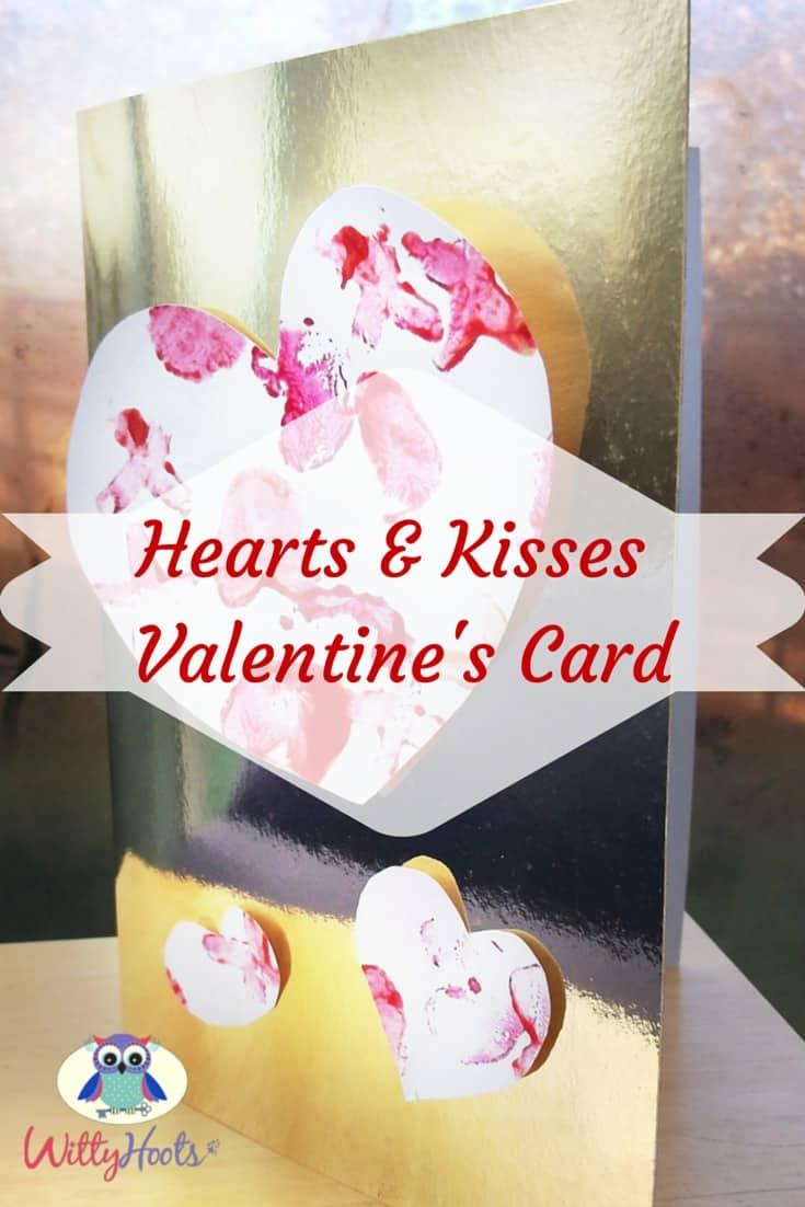 Hearts & Kisses Valentine's Card