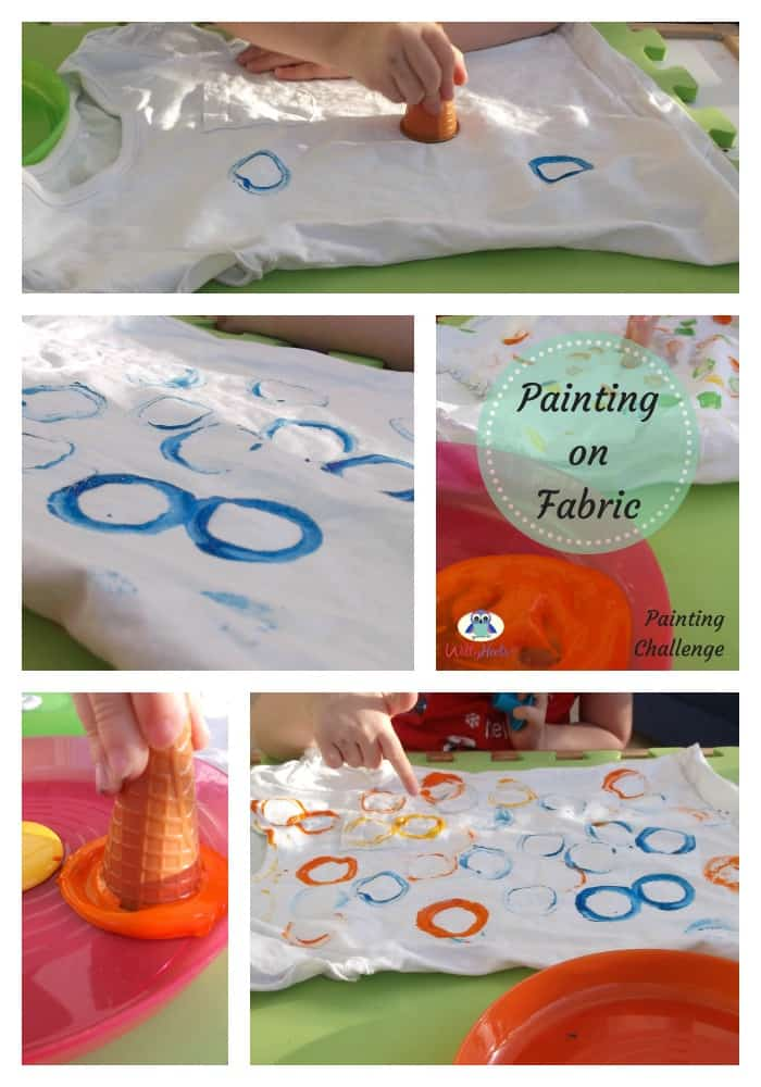 Circles Painting on fabric