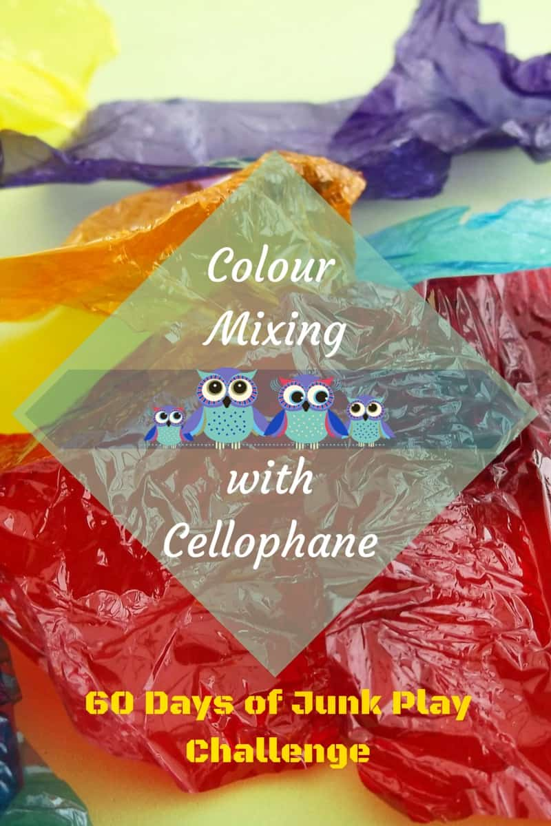 Colour Mixing With Cellophane pin