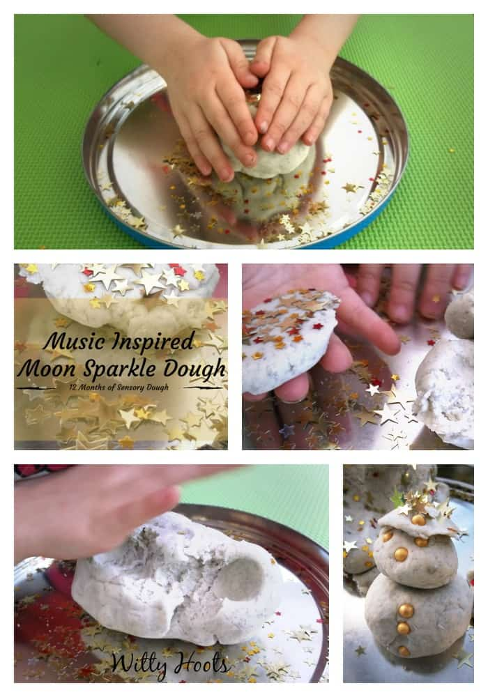 Moon Sparkle Dough Collage