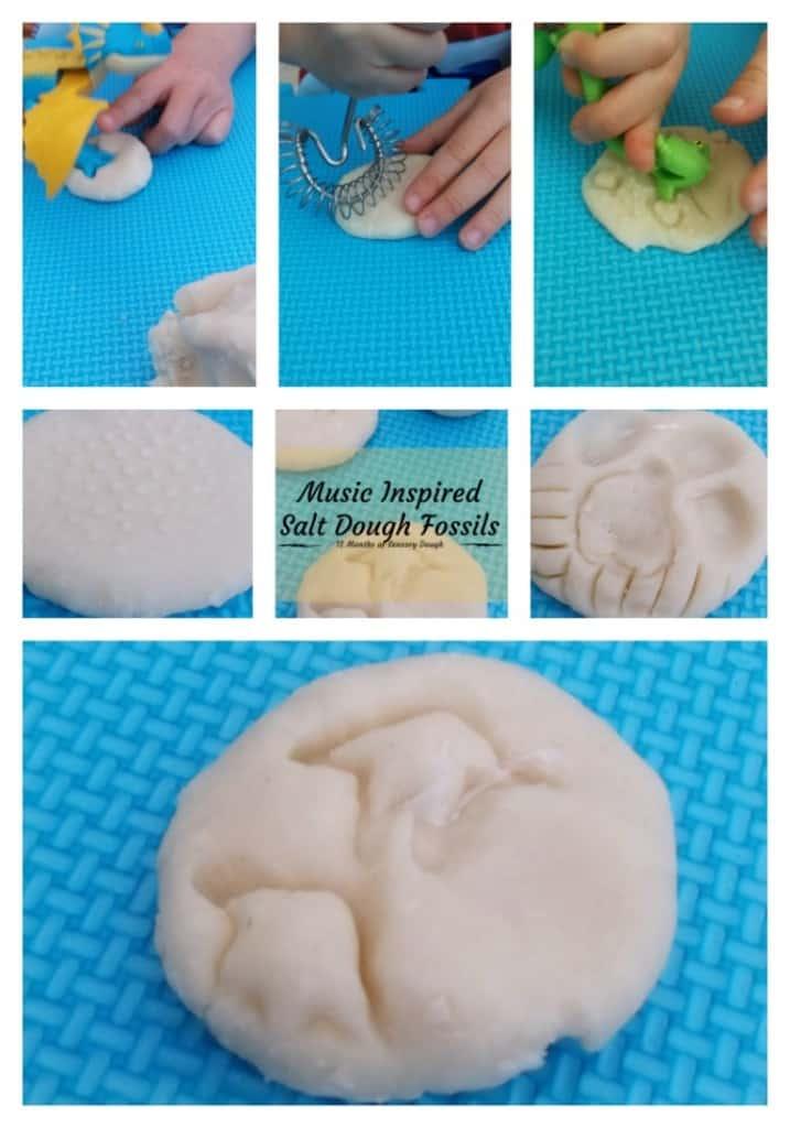 Musical Salt Dough Fossils