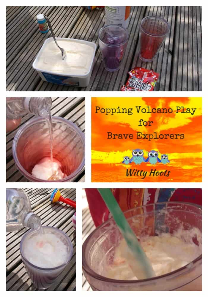 Volcano Ice Cream Floats