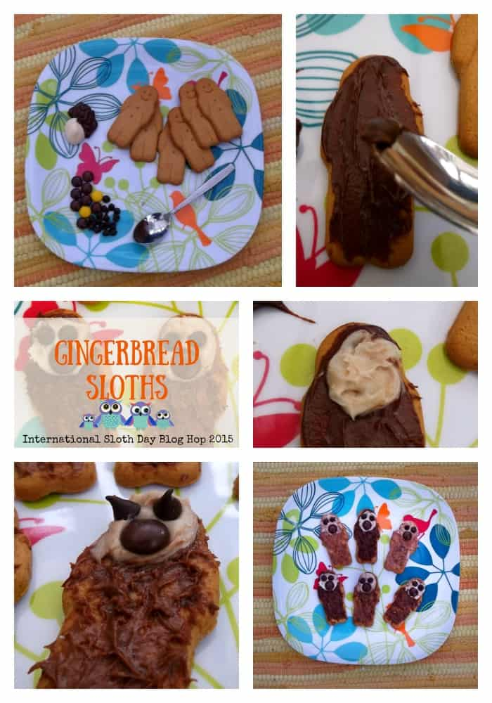 Gingerbread Sloths for International Sloth Day