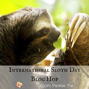 International Sloth Day badge