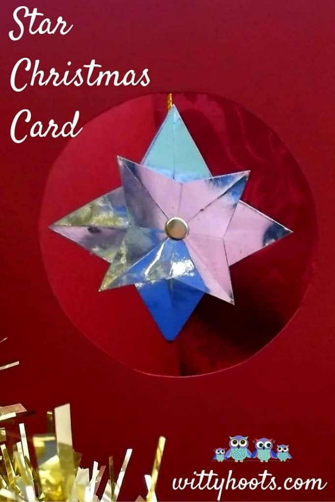Star Christmas Card Witty Hoots