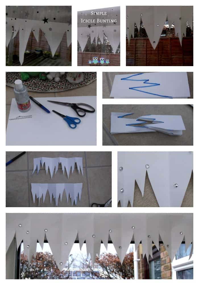 Icicle Bunting Inspired By Here Comes Jack Frost