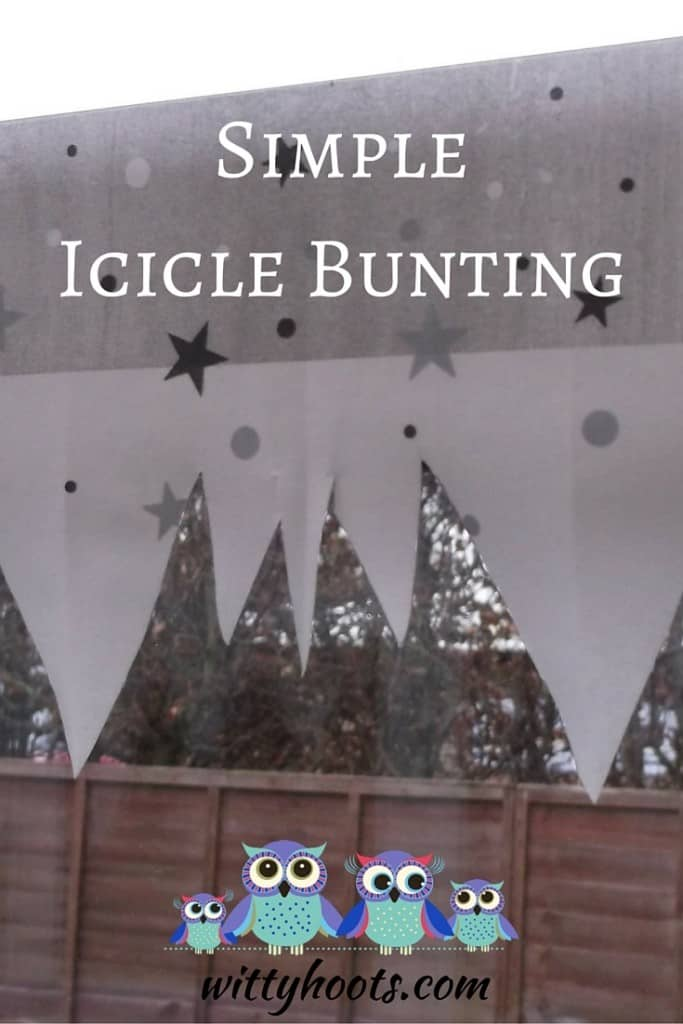 Simple Icicle Bunting Witty Hoots