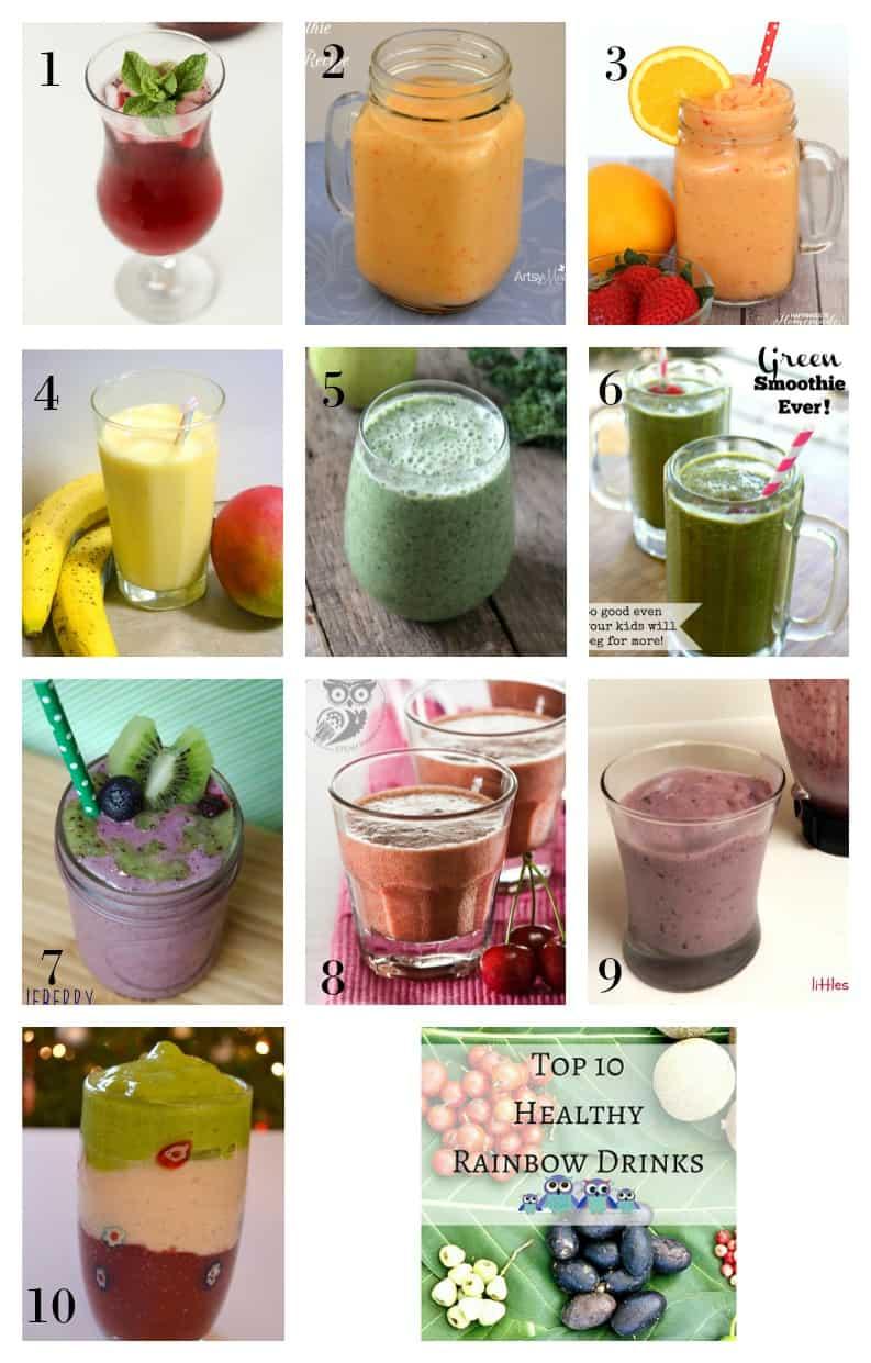 Top 10 Healthy Rainbow Drinks