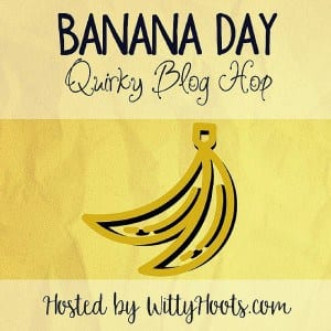 Banana Day Quirky Blog Hop Badge