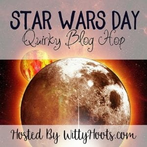 Star Wars Day Quirky Blog Hop Badge Witty Hoots