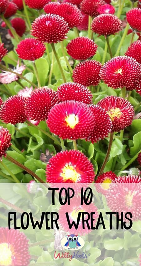 Top 10 Flower Wreaths witty hoots